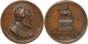 P2812 Rare Médaille Henri IV Statut 1817 Andrieu Desnoyers SPL