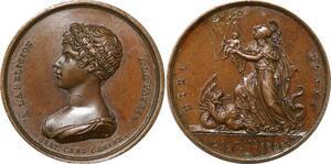 P2813 Rare Médaille Naissance Duc Bordeaux 1820 Desnoyers SPL