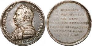P2823 Rare Médaille Ch Ferdinand Duc Berry 1820 Depaulis Desnoyers SPL