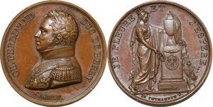 P2826 Médaille Ch Ferdinand Duc Berry 1778 1820 Caqué Desnoyers SPL