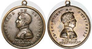 P2850 Rare Médaille Louis XIX Libérateur Espagne Duc Angoulème Desnoyers SUP