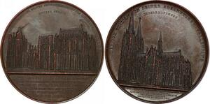 P2907 Scarce Medal Germany 600 years of Cathedral Kohn 1248 1848 AU