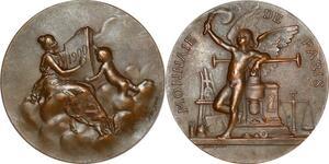 P2913 Rare Médaille Monnaie de Paris 1900 Daniel Dupuis SUP ->Faire offre