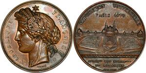 P2916 Médaille Exposition Universelle Paris 1878 Palais du Trocadero Oudiné