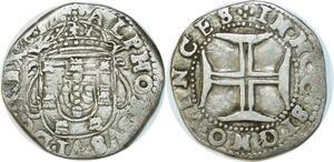 P3004 Rare Portugal Alphonse Alfonso VI Tostão 1656-1667 Silver ->Make offer