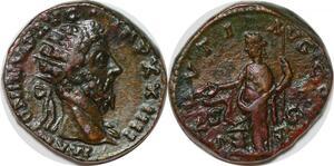 P3181 Rare Roman Empire Sesterce Marcus Aurelius Rome AD 170 XXIIII Salvti Avg