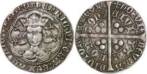 P3184 Rare Great Britain Groat 4 Pence Henry V 1413 22 G Silver -> M offer