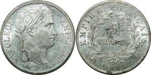 P3668 Rare 5 Francs Napoléon I er 1811 A Paris Argent PCGS MS61 -> Make offer
