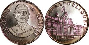 P3678 France Médaille Président Charles De Gaulle 1959 1969 Proof
