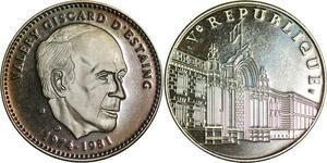 P3680 France Médaille Président Giscard d'Estaing 1974 1981 Proof