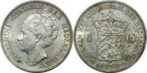 P3710 Netherlands Gulden Wilhelmina Koningin 1938 Silver AU -> Make offer