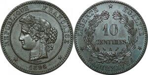 P3944 Rare 10 Centimes Cérès 1896 Faisceau SPL ++ FDC -> Faire offre