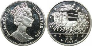 P4476 Gibraltar Elisabeth II 1994 European Union 2.8 Ecus Proof ->Make offer