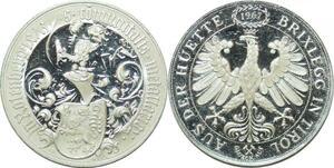 P4483 Austria 2 Dukaten 500 years Brixlegg Tirol 1463 1963 Kremnitz Proof