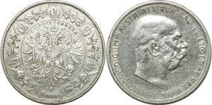 P4731 Austria Habsburg 5 Kronen Corona Franz Joseph I 1909 Silver ->Make offer