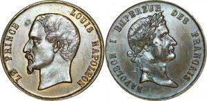 P4763 Médaille Le Prince Louis Napoléon & Napoléon I er SUP -> Faire offre