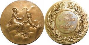 P4798 Médaille Chambre Commerce Bordeaux Allégorie 1900 Daniel Dupuis SUP