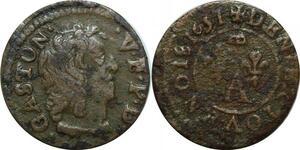 P4858 Dombes Gaston d'Orléans Denier tournois 1651 Trevoux -> Faire offre
