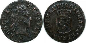 P4877 Liard à la vieille tête Louis XV 1770 S Reims -> Faire offre