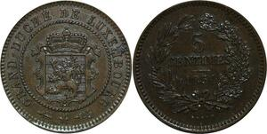 P4977 Luxembourg 5 Centimes 1870 Barth AU++ -> Make offer