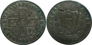 P4978 Switzerland Schweiz Batzen 1826 Basel Cantons -> Make offer