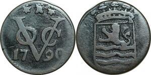 P5026 Indonesia Dutch East Indies VOC Duit 1790 -> Make offer