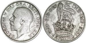 P5338 UK Shilling George V 1928 Silver -> M Offer
