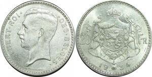 P5507 Rare Belgique 2 Frank Leopold II 1909 NL Th. Vincotte Silver AU