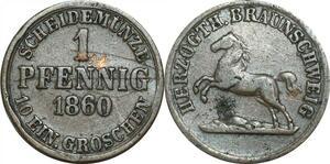 P5905 Germany Brunswick Wolfenbüttel Pfennig Wilhelm 1860  -> M Offer