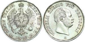 P5948 Rare Germany Prussia 1/6 Thaler Friedrich Wilhelm IV 1863 A Silver UNC