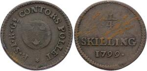 O2040 Schweden / Sweden 1/4 Skilling Riksgäld 1799 Gustav IV Adolf ->Make offer