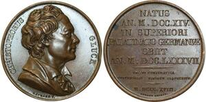 O5202 Medal Christoph Gluck 1818 Gayrard composer Baron desnoyers SPL