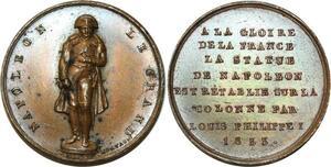 O5581 Rare Medal Napoleon I Colonne Louis-Philippe 1833 Montagny desnoyers SPL