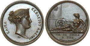 O5647 Rare Medaille Elisa Bonaparte Brenet 1808 Baron desnoyers SPL FDC