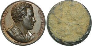 O5960 Rare Medaille Uniface Johannes Winckelmann Baron desnoyers Caqué SPL
