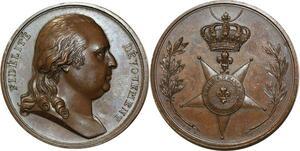 O5992 Rare Medaille Louis XVIII Fidelité Grand CRoix Andrieu desnoyers SPL