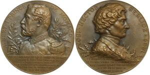 O6321 Médaille Albert I Centenaire Naissance Hector Berlioz Monte Carlo SUP