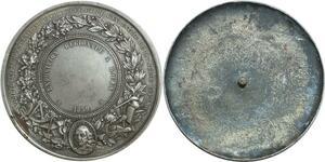 O6350 Epreuve Uniface Napoleon III 1859 Commerce Argent Silver