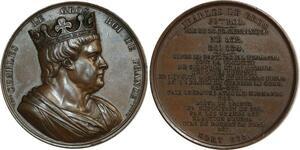 O6530 Médaille Charles Louis Germanique 1839 Caqué SUP ->Make offer