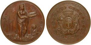 O7010 Médaille Congrès Scientifique Geographie Marseille 1846 -> Make offer