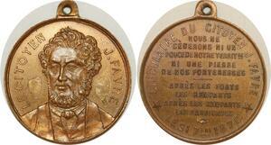 O8170 Médaille Circulaire Citoyen Favre 1870 Invasion Prusse Paris SUP