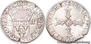 S4167 Rare Quart 1/4 écu Henri IV 1603 T Nantes Argent Silver - Faire Offre