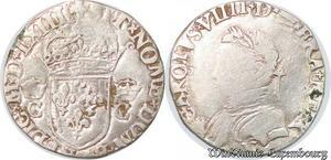 S4297 Rare Demi Teston Charles IX 1563 N MontpellI Silver - Faire Offre