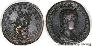 S4810 Rare Sesterce Concordia Otacilia Severa Augusta AD 244-249 Quality