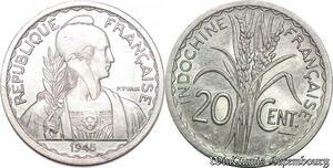 S5153 Indochine Francaise 10 Cent 1945 Paris UNC ! MS- Faire Offre