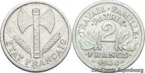 S5183 2 Francs Francisque 1944 C Castelsarassin - Faire Offre