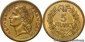 S5208 5 Francs LavrillI Bronze-Aluminium1945 C - Faire Offre