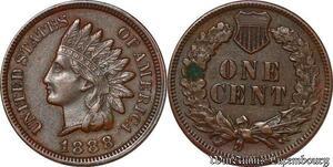 S5286 USA One Cent Indian 1888 AU ! Superbe - Faire Offre