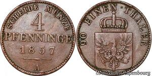 S5314 Allemagne Prusse 4 Pfenninge 1857 A Berlin - Faire Offre