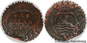 S5497 Holland Zeeland Zelandia Duit 1767 tranche striée- Faire Offre